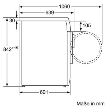 Siemens iQ300 WT46E103 iSensoric Kondenstrockner / B / 7 kg / Weiß / softDry-Trommelsystem / TouchControl-Tasten / Knitterschutz -